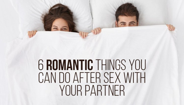 what do you do after sex